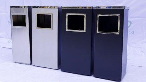ƯU và NHƯỢC điểm của thùng rác hình chữ nhật chất liệu nhựa và inox