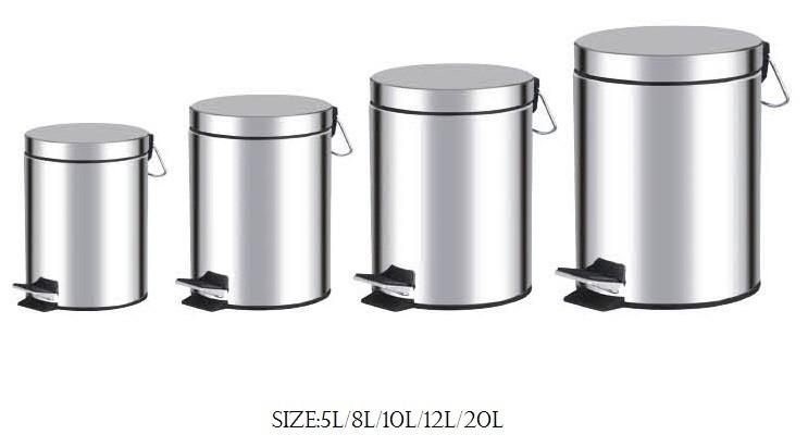 Giới thiệu các loại thùng rác inox đạp chân 5l – 8l – 12l – 20l – 30l