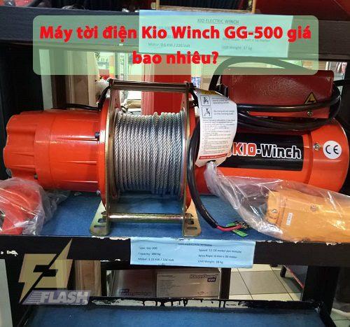 Máy tời điện Kio Winch GG-500 giá bao nhiêu? Tư vấn viên giải đáp
